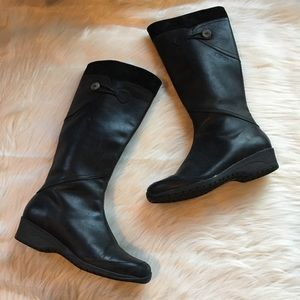 Teva boots 9.5 Jade Cove black leather waterproof